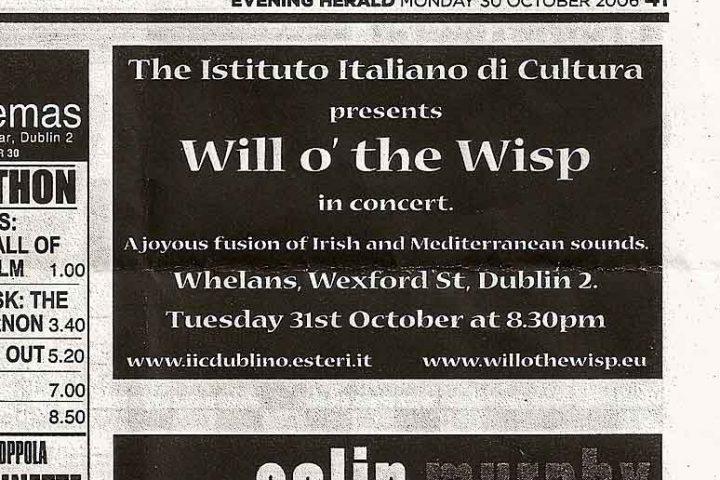Halloween 2006 at Whelans Club – Dublin
